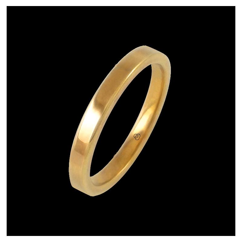 Anello in oro giallo 18 kt lucido superficie piatta modello ag82811ew-bis