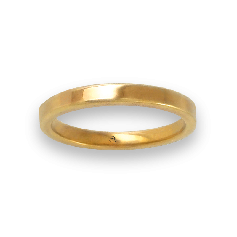 Ring in yellow gold 18k flat surface polished finish model ag82811ew-bis