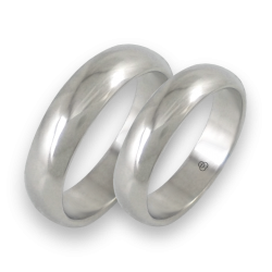 Wedding bands in white gold rounded surface model ab55-10ew