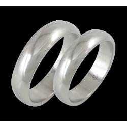 Fedi in oro bianco superficie arrotondata modello ab55-10ew