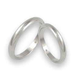 Wedding bands white gold rounded surface model ab03-30ew+bis
