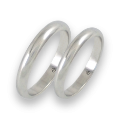 Wedding bands white gold rounded surface model ab23-20ew+bis