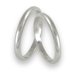 Wedding bands white gold rounded surface model ab82-20ew+bis