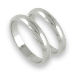 Wedding bands white gold rounded surface model ab83-10es+bis
