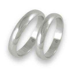 Wedding rings white gold rounded surface model ab24-20ew+bis