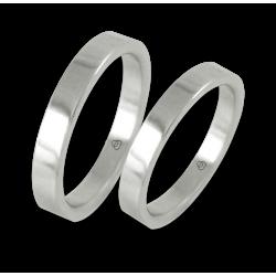 Wedding rings white gold flat surface model ab23-50ew+bis