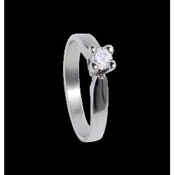 solitaire ring in white Gold 18k - diamond 0.20-0.30 ct - model Davide
