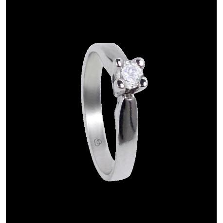 Кольцо из белого золота 750*- бриллианты 0.20 - 0.30 ct - модель Давид