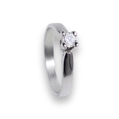 solitaire ring in white Gold 18k - diamond 0.20-0.30 ct - model Davide
