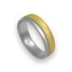 Ring in yellow and white gold 18k slim rows diamond cut finish model mc252124ew
