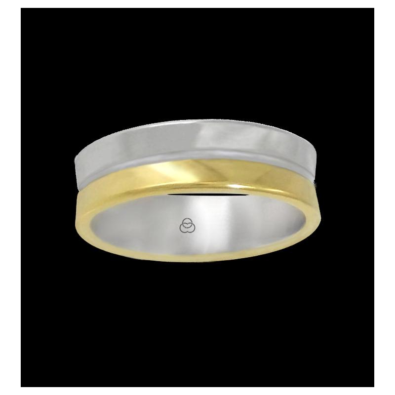 Anello oro giallo e bianco 18 kt lucido modello aa062524ew