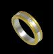 Anello oro giallo e bianco 18 kt finitura satinato e lucido un diamante modello bi054624dw