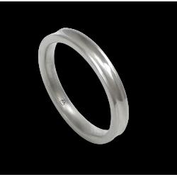 Кольцо из белого золота 18 карат, отделка глянцевая вогнутая в центре модели ab036924ew