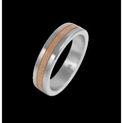 Кольцо из белогои розового золота 18-карат чеканный узор модель zp05343ew