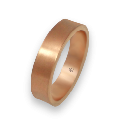 Ring in rose gold 18k slightly holloved surface model bq064434ew