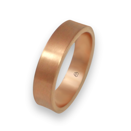 Ring in rose gold 18k slightly holloved surface model bq064434ew
