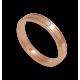 Кольцо из розового золота 18 карат плоская поверхность с алмазом модели aq537401dw