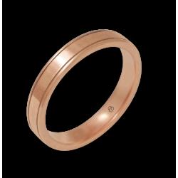 Кольцо из 18-каратного розового золота ровная и глянцевая поверхность модели aq537401ew