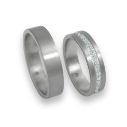 Wedding bands white gold 18k with diamonds model 05106