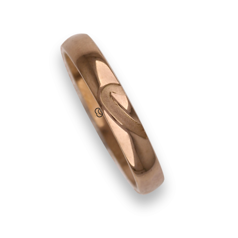 Man ring for wedding in rose gold 18k model aq731744ew