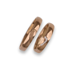Wedding rings 18k with mid and mid heart pattern model aq731744