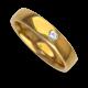 Anello / fede nuziale donna oro giallo lucido 18 kt diamante forma cuore modello agCuoreDiLu01dw