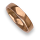Man ring for wedding in rose gold 18k model aqCuoreDiLu02ew