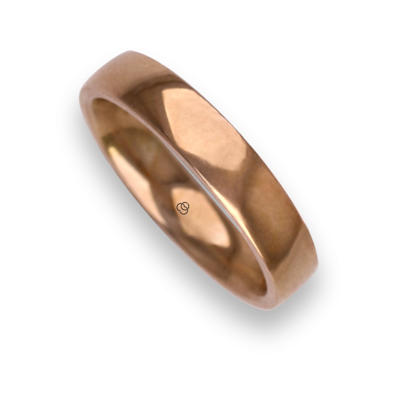 Man ring for wedding in rose gold 18k model aqCuoreDiLu02ew