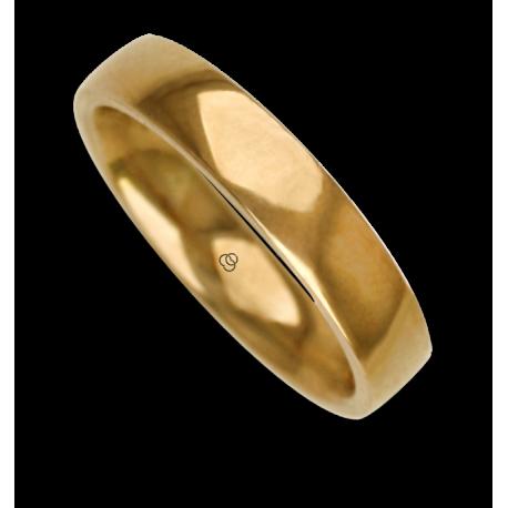 Anello / fede nuziale uomo in oro giallo 18 kt modello agCuoreDiLu02ew