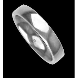 Кольцо / обручальное кольцо человек в 18 Кт белого золота модель abCuoreDiLu02ew