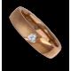Woman ring for wedding rose gold polished - sandblast finish heart shape diamond model vaqCuoreObSa04dw