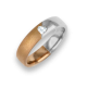 Ring for wedding rose-white gold polished - sandblast finish heart shape diamond model avdCuoreObSa
