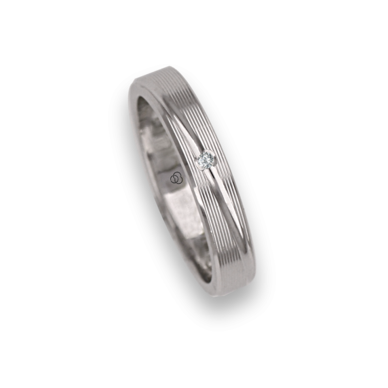 Woman ring / wedding ring in white gold 18k rows surface model eb5330ew