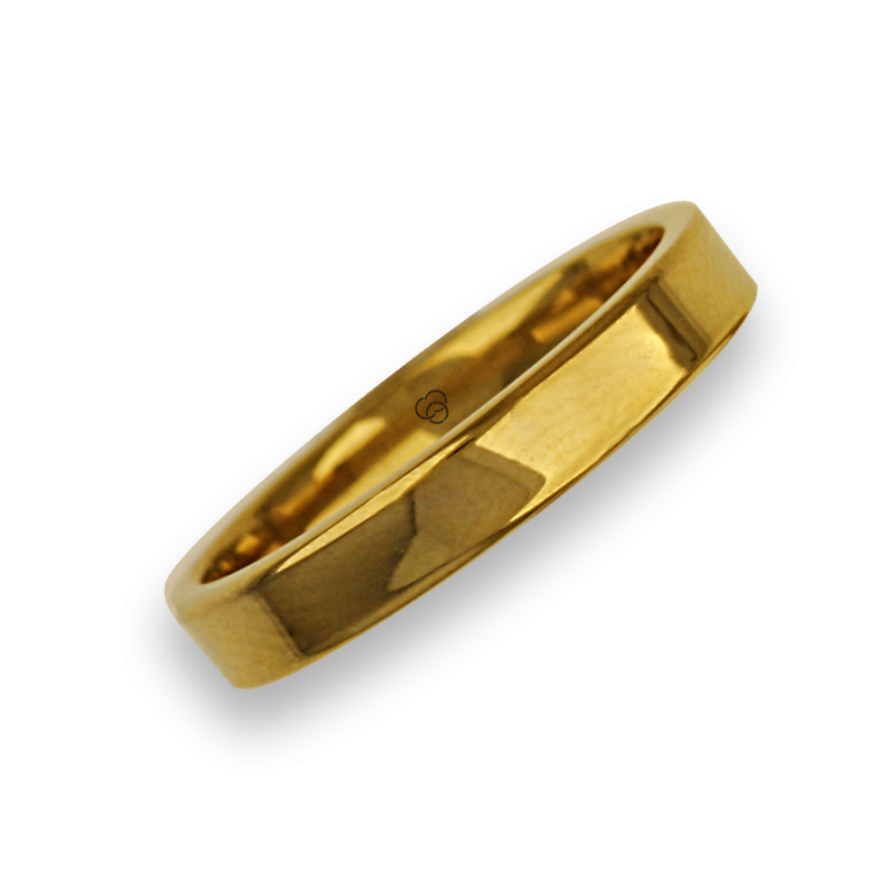 Ring in yellow gold 18k flat surface polished finish model ag04960ew