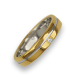 Ring / wedding ring in gold 18k two-tone yellow and white polished finish model ai04370dw