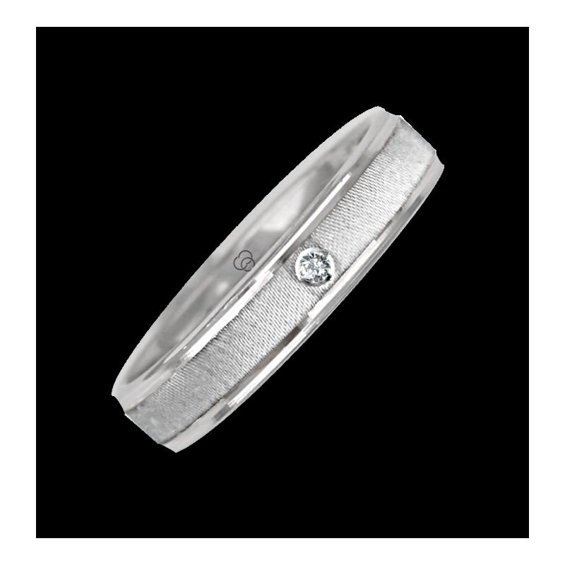 Ring / wedding ring in white gold 18k diamon point patterns at the center model ra343922dw