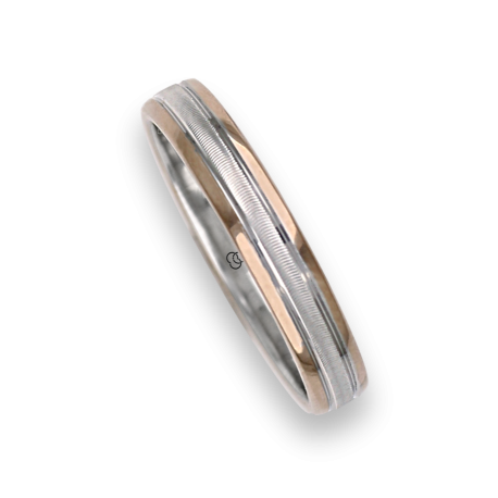 Ring / wedding ring in gold 18k two-tone rose and white model wo045324ew