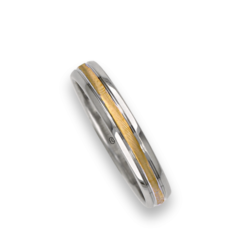 Ring / wedding ring in gold 18k two-tone white and yellow model wl045324ew